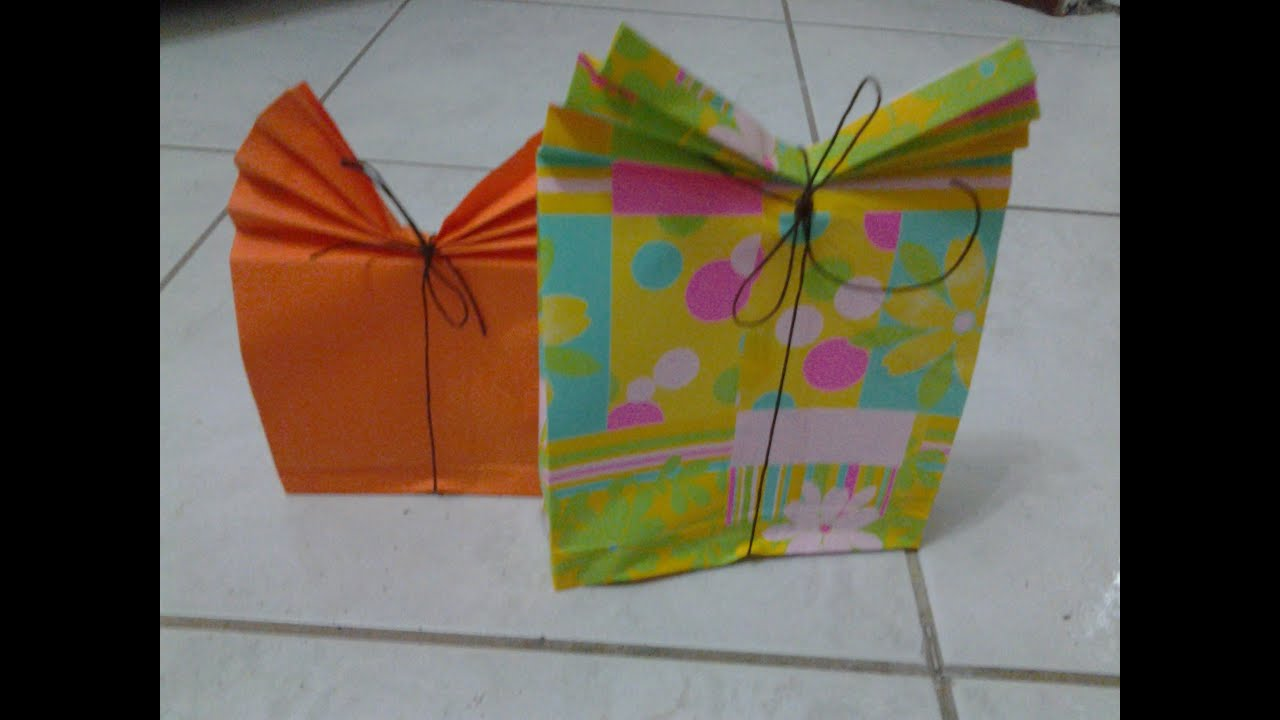 Famoso sacchetto/borsettina regalo fai da te (paper gift bag) - YouTube JN16