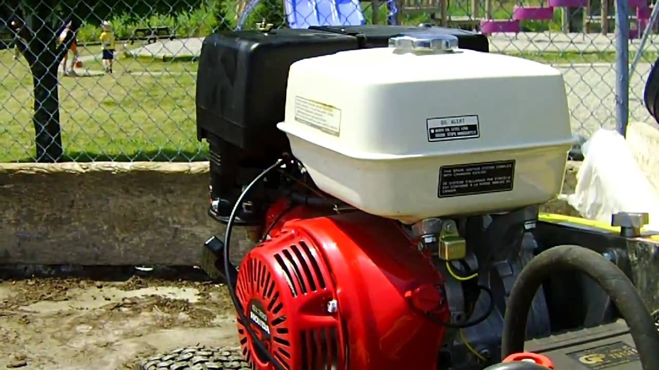honda GX390 Pressure washer at my church YouTube