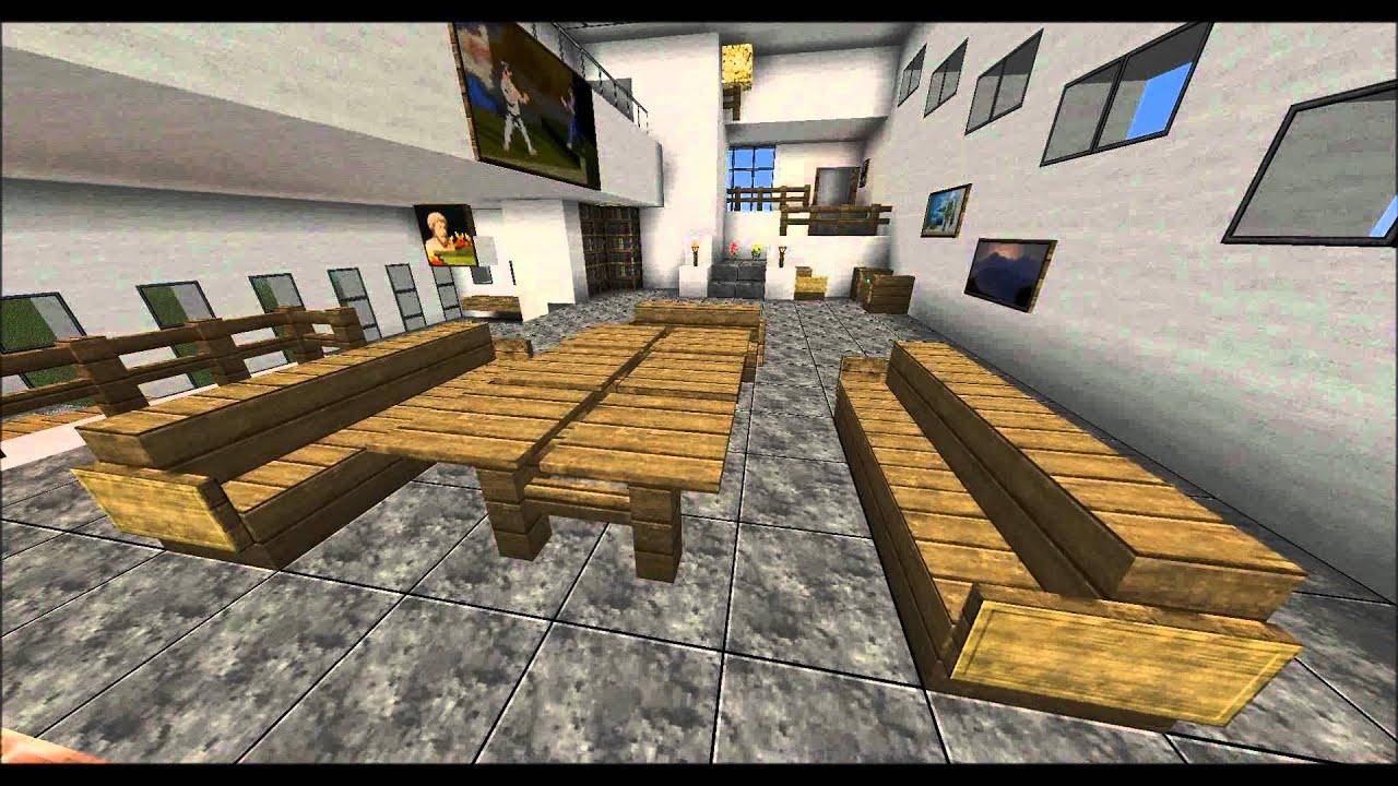 Minecraft modernes wohnzimmer beispiel german youtube - Minecraft wohnzimmer ...