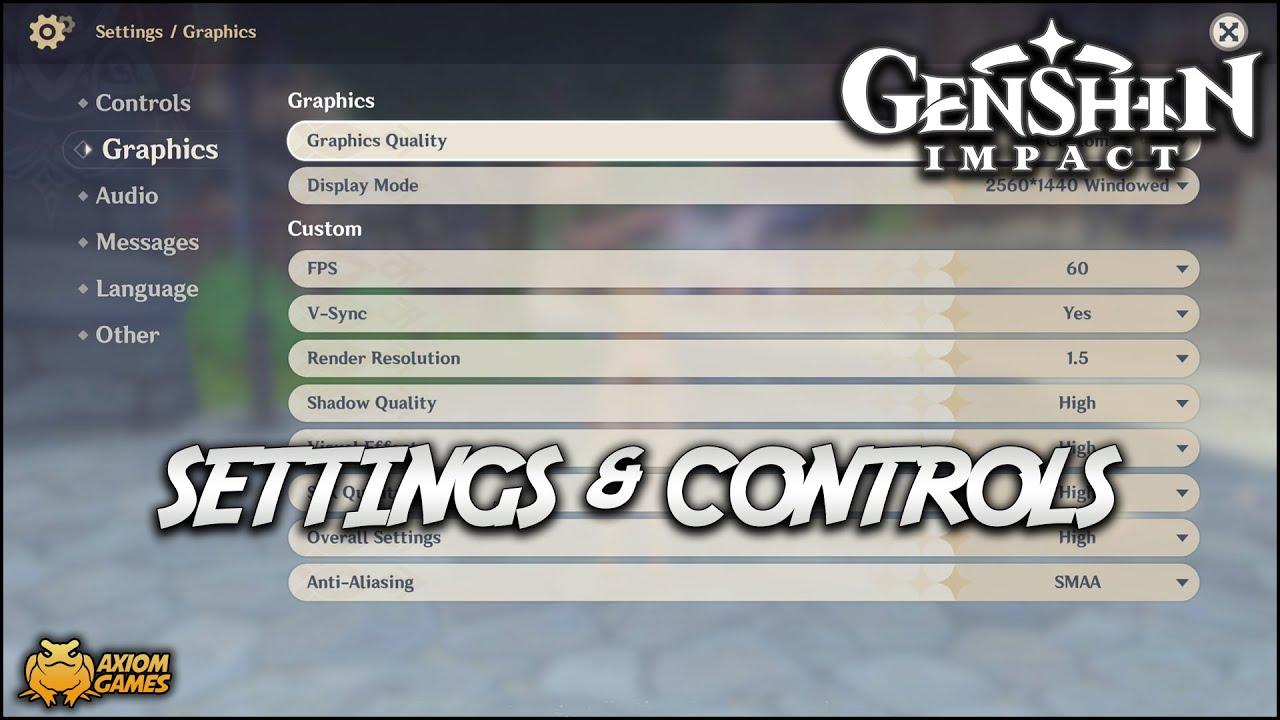 Genshin Impact Pc Game Settings Controls Youtube