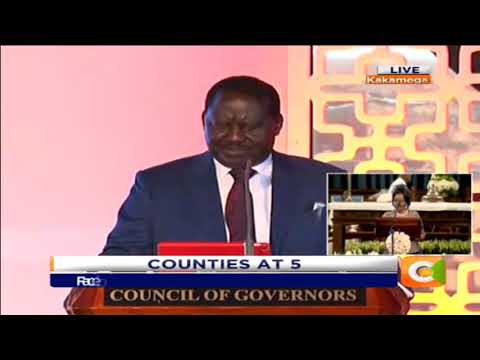 Gov't's Big 4 Plan a point of possible conflict with counties - Odinga #CountiesAt5
