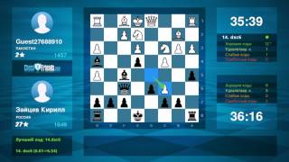 Chess Game Analysis: Guest27688910 - Зайцев Кирилл : 0-1 (By ChessFriends.com)