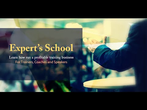 How to run a succesful coaching and training business - Expert's School Pre Training Video