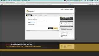 Download an SSL Certificate from Symantec Trust Center