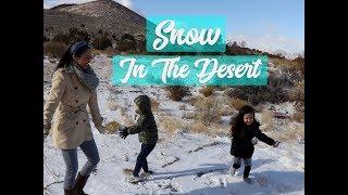 SNOW IN THE DESERT!!