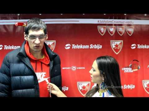 Marjanovic & Blazic after the game   Crvena zvezda Telekom - Panathinaikos  Athens 69:68