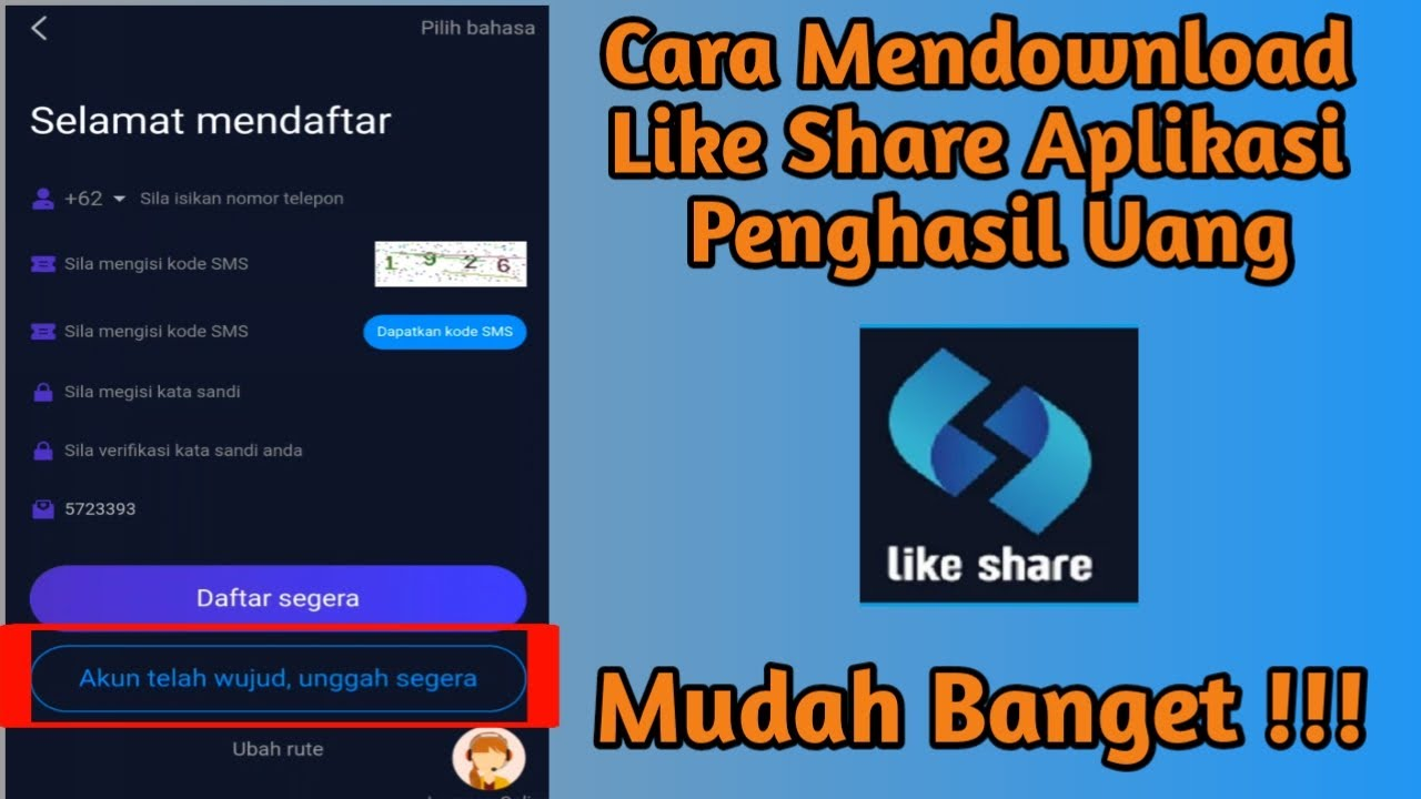 cara download aplikasi like share