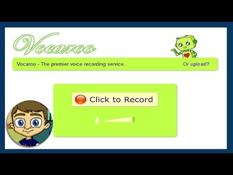 Vocaroo 2017 Tutorial Record Your Voice Online & Make Audio QR Codes
