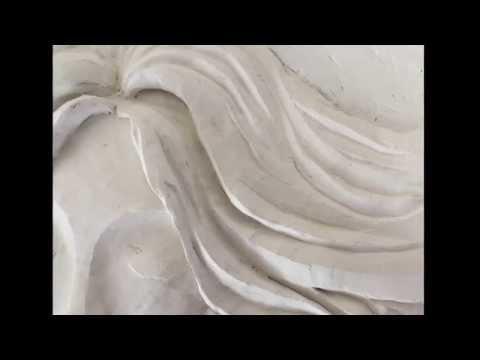 Angel Bas Relief Sculptural Mural Wall Art