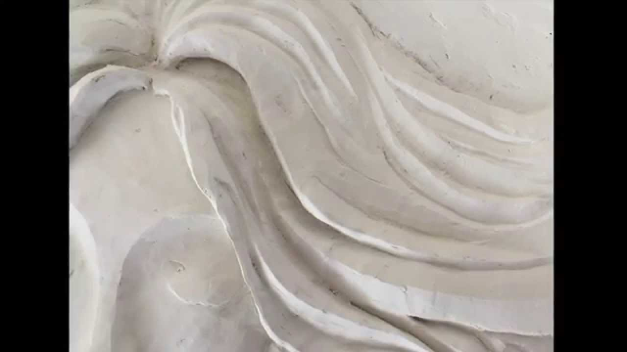 Plaster Wall Art angel bas relief sculptural mural wall art - youtube