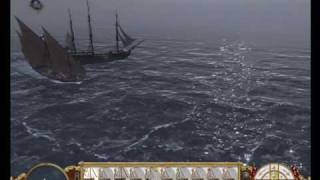 Empire: Total war. Ottoman Fleet. Vs Pirates. (Payback) HD