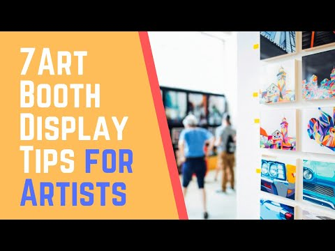 Art Booth Display Tips for Artists - Craft fair display tips and ideas
