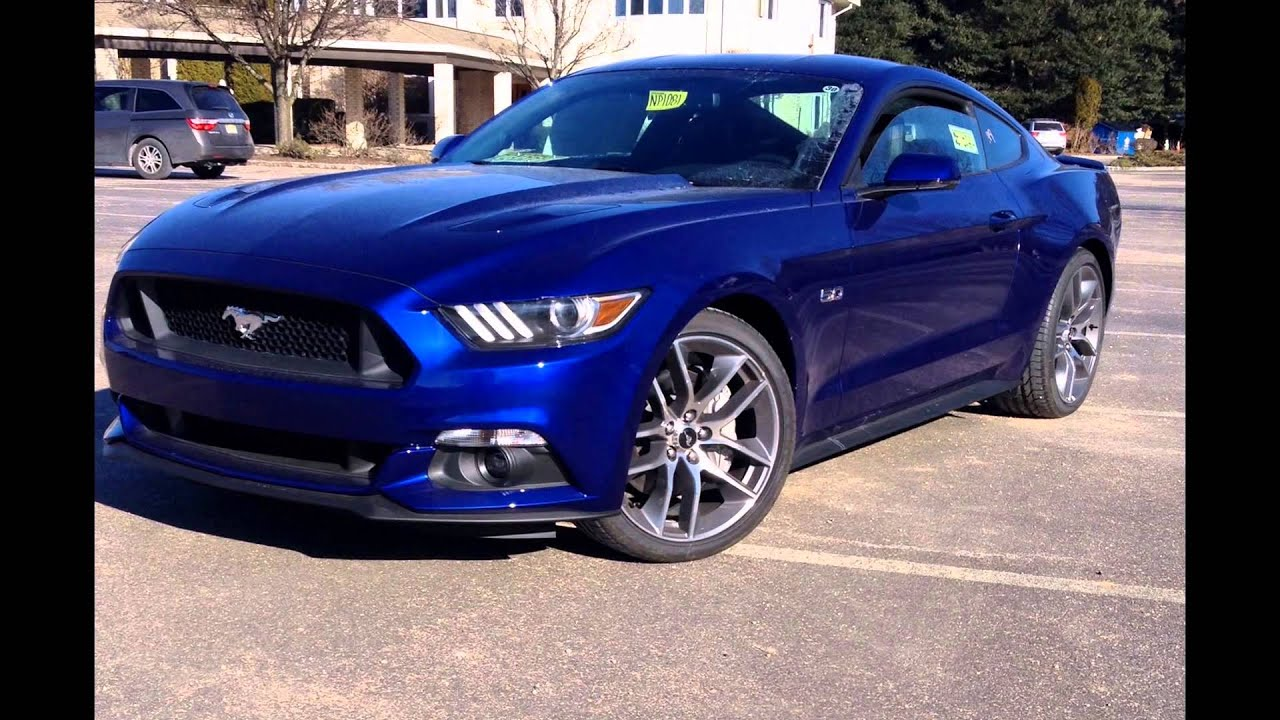 2016 ford mustang gt deep impact blue youtube. Black Bedroom Furniture Sets. Home Design Ideas