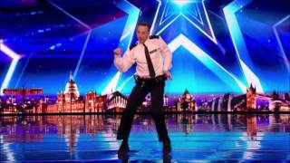 British Policeman With Some Dancing MOVES | Auditions 1 | Britain's Got Talent 2017