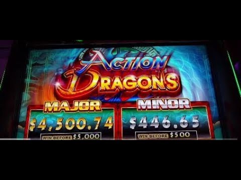 Amazing Max Bet $5 Bonus Ainsworth Action Dragons slot machine pokie Free spins