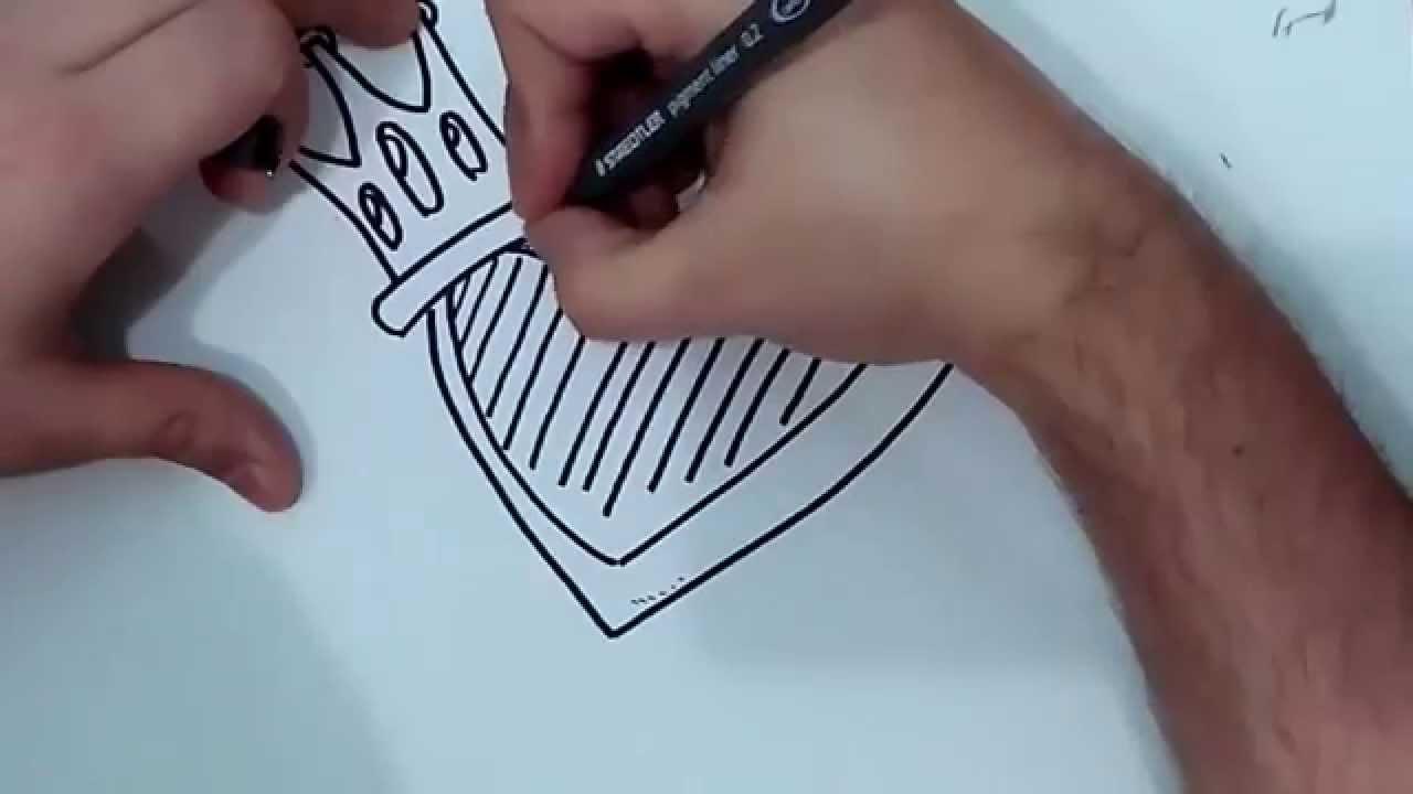 Como dibujar un corazon con corona  YouTube