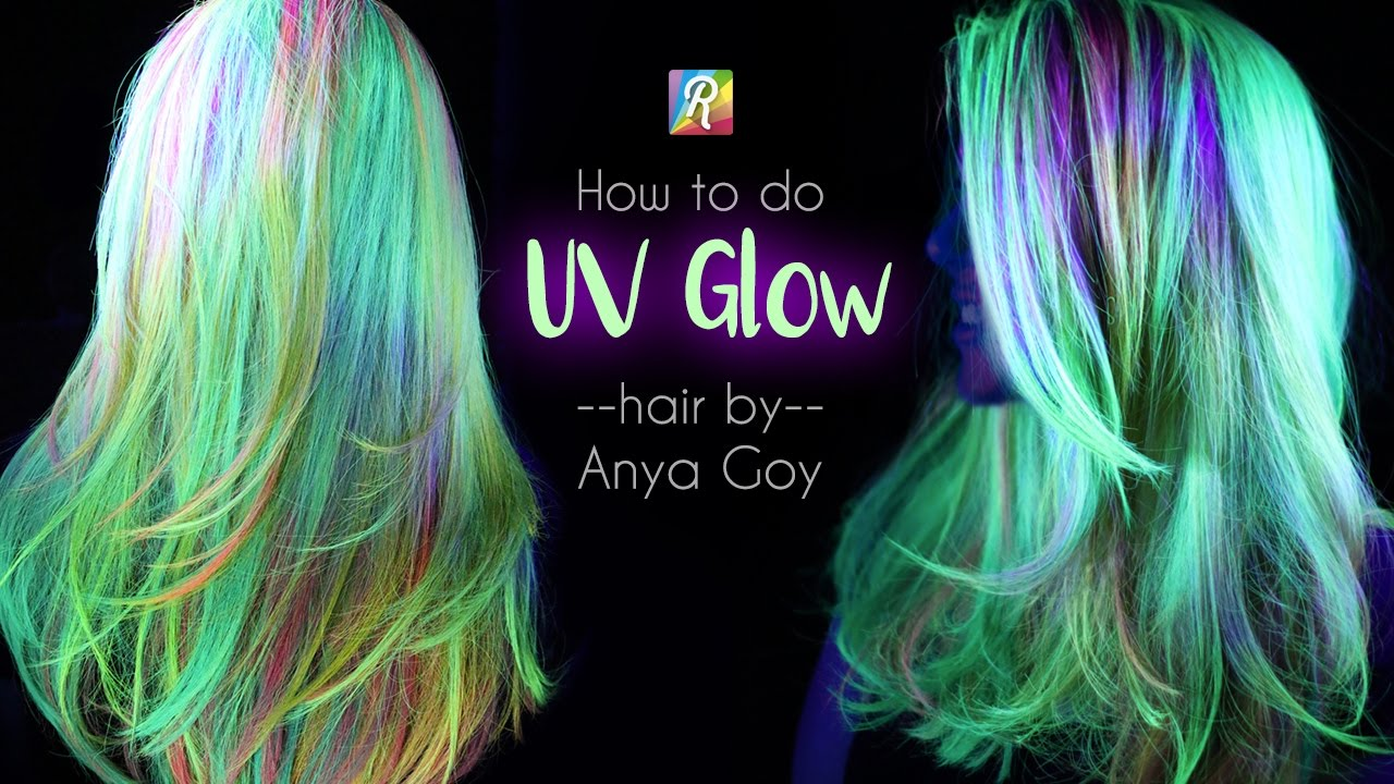Neon Uv Glow In The Dark Hair By Anya Goy Youtube