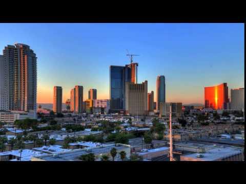 time lapse las vegas skyline sunrise