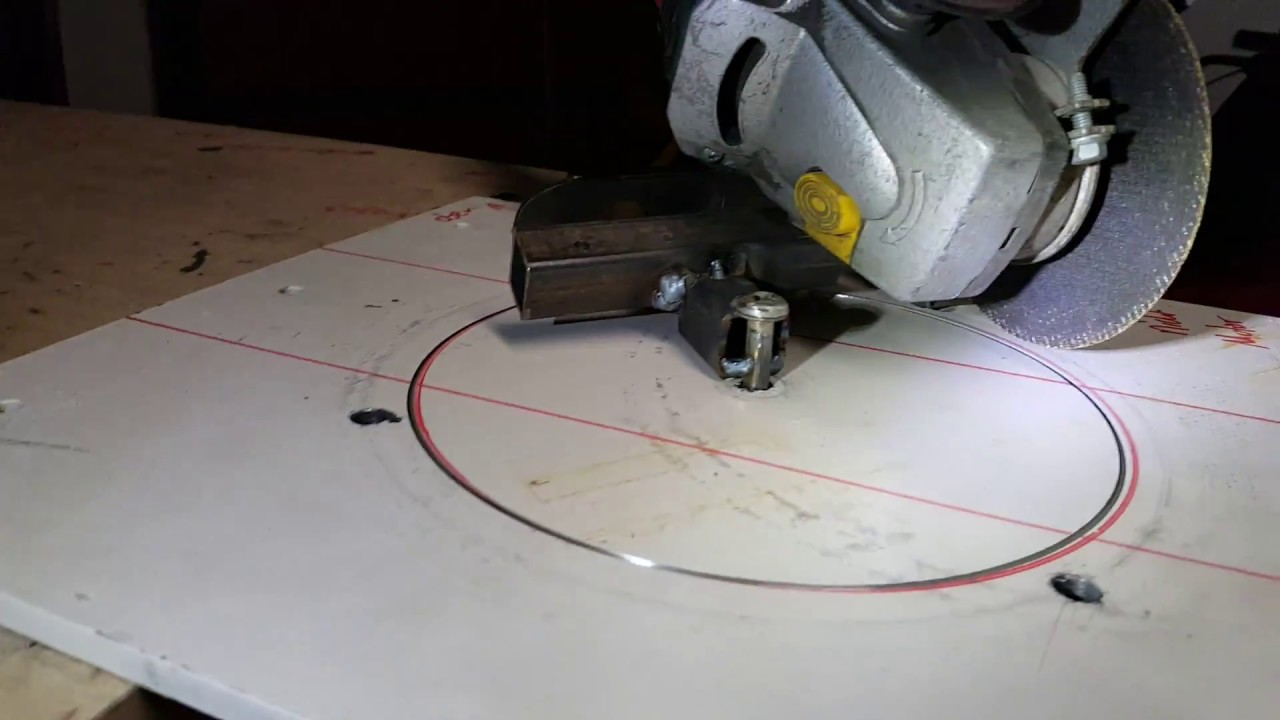 How to cut perfect circles with an angle grinder youtube how to cut perfect circles with an angle grinder dailygadgetfo Image collections