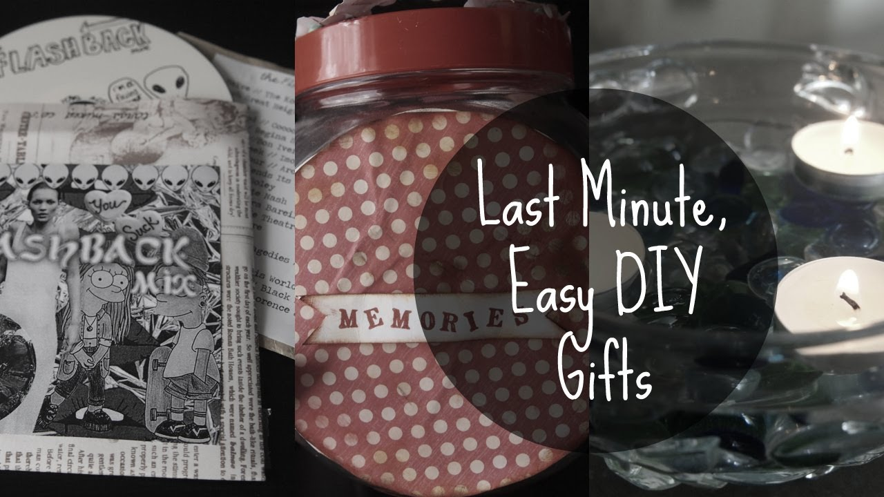 Last minute easy diy gifts youtube solutioingenieria Images