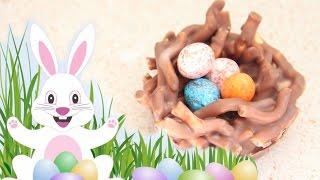 No-bake Chocolate Easter Egg Nest