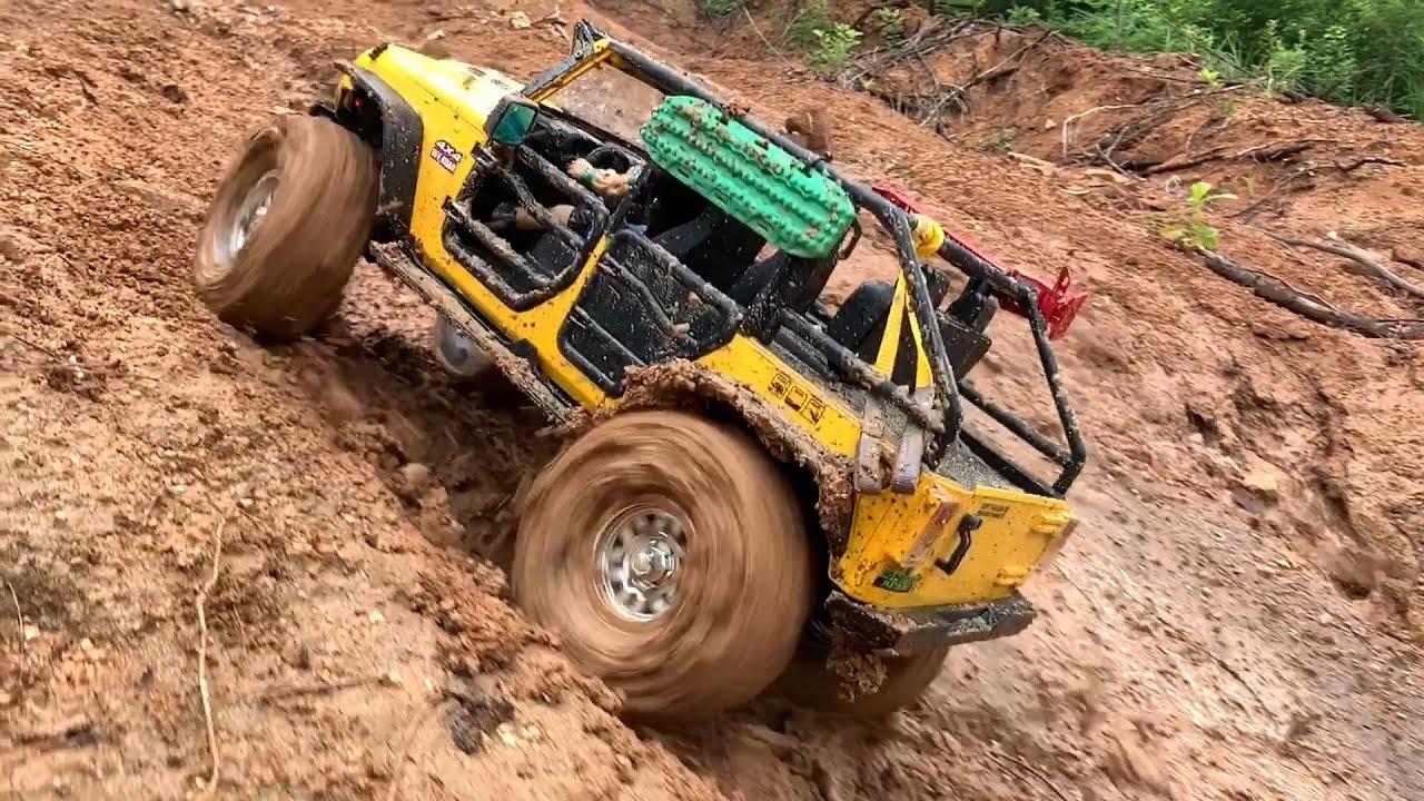 1/10 Scale RC : Jeep Wrangler Rubicon JK Mud Bash#14.