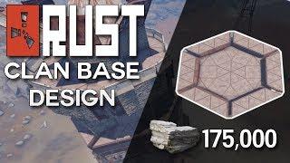 INSANE SUPER HARD TO RAID RUST CLAN BASE DESIGN - Rust Base Building (175,000 Stone)