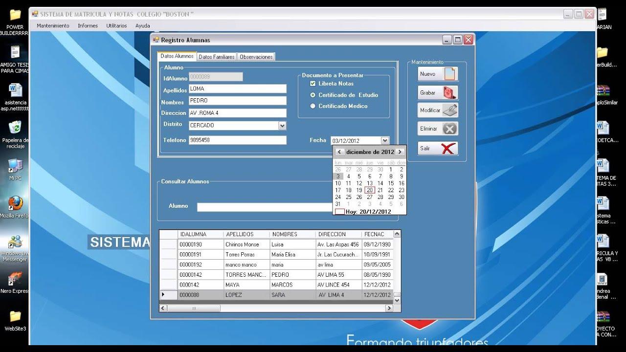 Sistema Matricula v1 proyecto20082 - YouTube