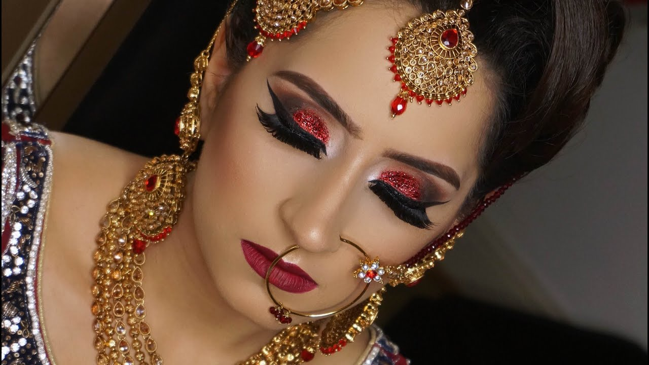 Real Bride Modern Traditional Asian Bridal Makeup Red