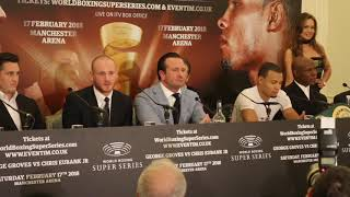HEATED! GEORGE GROVES v CHRIS EUBANK JR - FULL & UNCUT PRESS CONFERENCE (w/ EUBANK SNR / SAUERLAND)