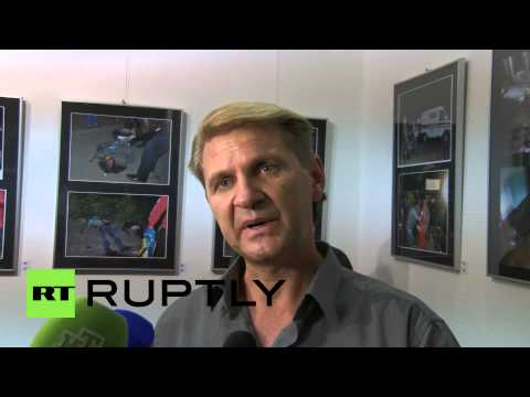 Germany: Eyewitness of Odessa Massacre displays evidence as he pushes for justice