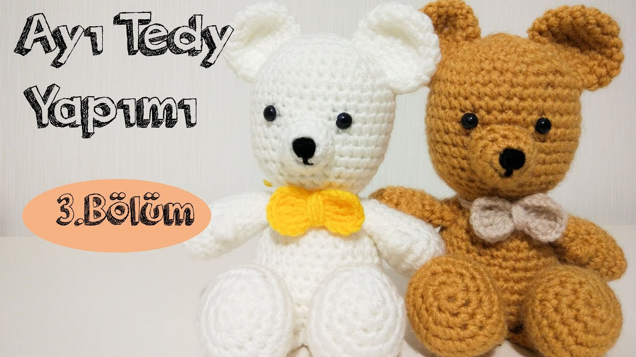 AMIGURUMI Ayıcık Tarifi ( Teddy Bear Crochet Tutorial) (ENGLISH SUBTITLES  ON) - YouTube | 720x1280