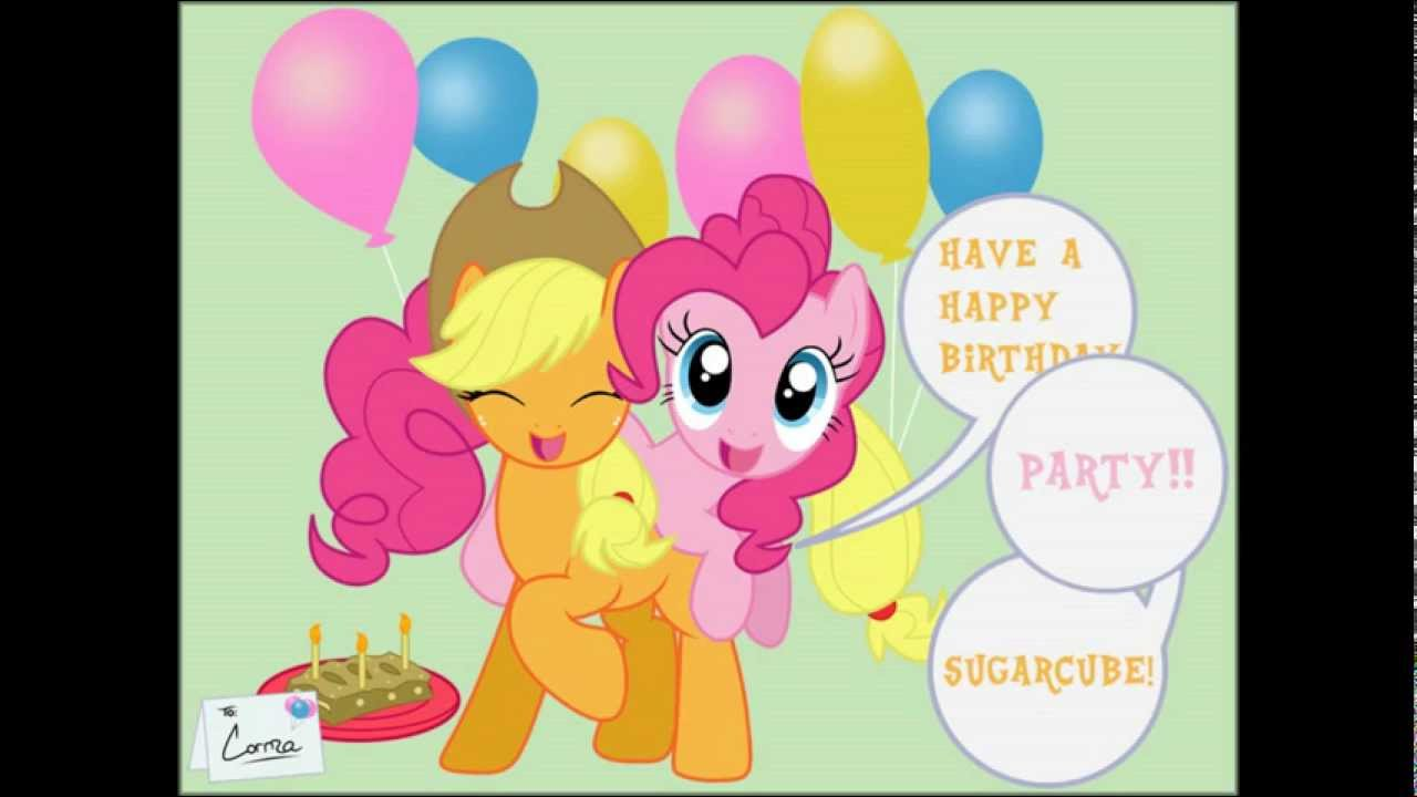 Pinkie Pie Slideshow Happy Birthday Song To You Youtube
