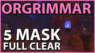 5 Mask FULL CLEAR - Orgrimmar Horrific Vision (Blood DK)
