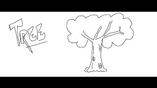 Easy Kids Drawing Lessons : How to Draw a Cartoon Tree