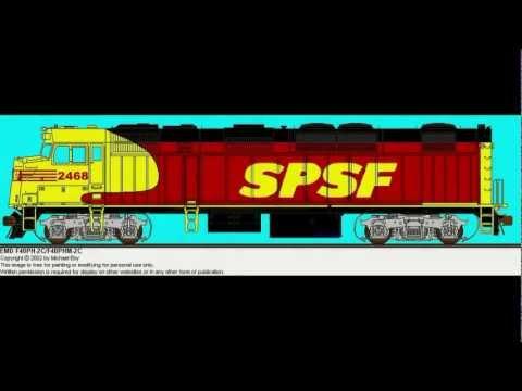 Fictional SPSF Railroad equipment