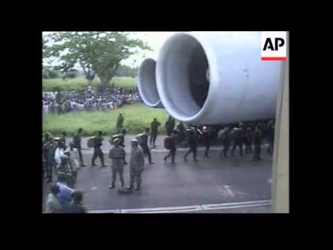Rwandan troops leaving DR Congo and arriving in Kigali