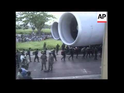 Rwandan troops leaving DR Congo and arriving in Kigali