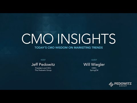 CMO Insights: Will Wiegler, CMO of SpringCM