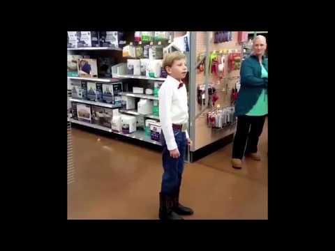 little boy yodeling in walmart
