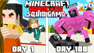 I Survived 100 Days as a SQUID GAME in Hardcore Minecraft!