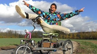 "TRICYCLE électrique fait maison ! ! ► [ une fabrication ""impro"" ] - Three wheel electric"