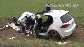 PKW in LKW - Schwerer Unfall bei Homberg (Efze) 19.09.2016
