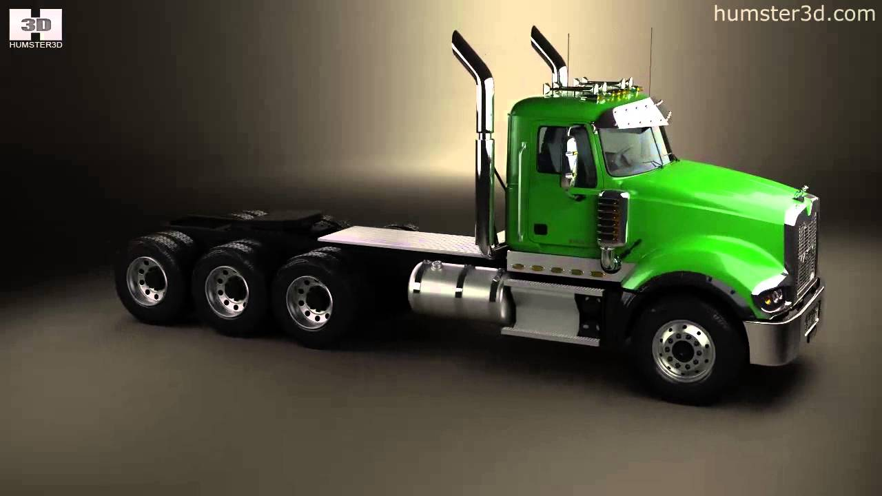 hight resolution of mack titan tractor truck 4axle 2007 by 3d model store humster3d com
