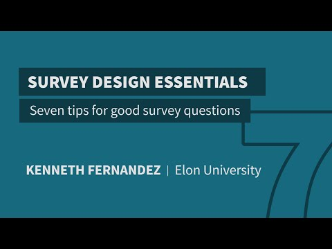 7 Tips For Good Survey Questions