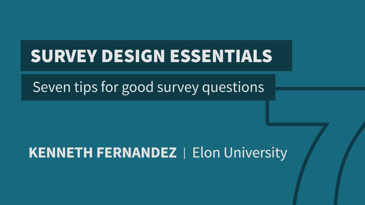 tips for good survey questions 7 tips for good survey questions