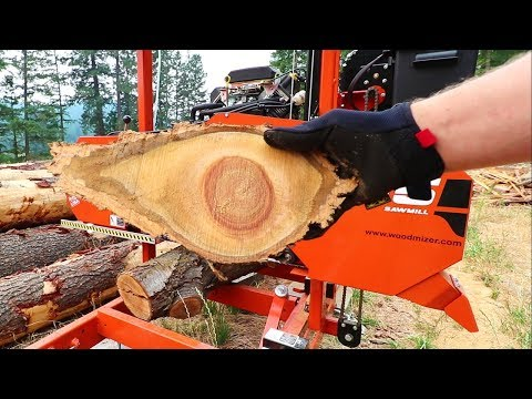 Sawmilling First Hardwood on LT15 Woodmizer Sawmill