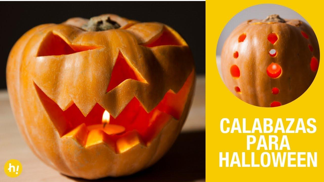 Cómo Hacer Una Calabaza De Halloween Calabazas Decoradas Para Halloween