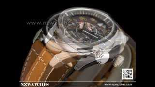 Citizen Eco-Drive Aviator Leather Strap Mens Watch AW1360-12H