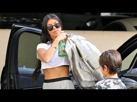Kourtney Kardashian Flaunts Perfect Abs, Is Asked About Birthday Plans For Rob's 30th